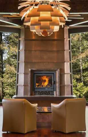 Napa Valley fireplace