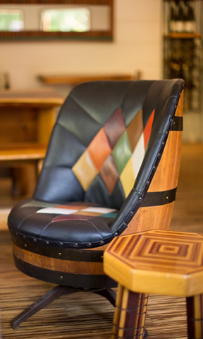 Glen Oaks Big Sur Roadhouse barrel chair